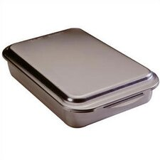 "Natural Commercial 13"" Covered Cake Pan"