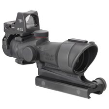ACOG 4x32 Scope Center Illuminated Amber Crosshair 223 Ballistic Reticle and 3.25 MOA RMR Sight