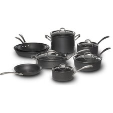 <strong>Calphalon</strong> Commercial Hard-Anodized 13-Piece Cookware Set