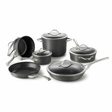 Contemporary Nonstick 11-Piece Cookware Set