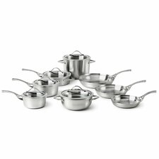 <strong>Calphalon</strong> Contemporary Stainless Steel 13-Piece Cookware Set