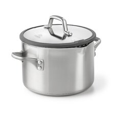 <strong>Calphalon</strong> Easy System Stainless Steel Stock Pot with Lid