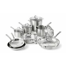 <strong>Calphalon</strong> Stainless Steel 14-Piece Cookware Set