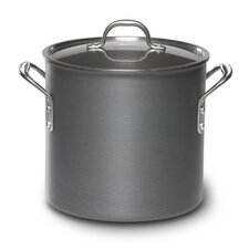 <strong>Calphalon</strong> Commercial Hard-Anodized Stock Pot with Lid