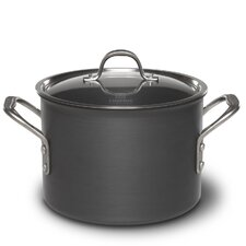 Commercial Hard-Anodized 6-qt. Stock Pot with Lid