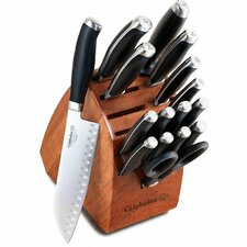 Contemporary Cutlery 17 Piece Knife Block Set