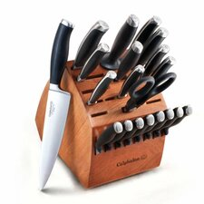 Contemporary Cutlery 21 Piece Knife Block Set