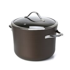 Contemporary Bronze Nonstick 8-qt. Stock Pot with Lid