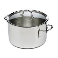 Tri-Ply Stainless Steel 8-qt. Stock Pot with Lid