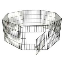 "<strong>QPets</strong> 24"" 8 Panel Exercise Dog Pen"