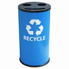 Ex-Cell Round 14 Gallon Multi Compartment Recycling Bin