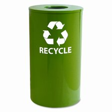 Ex-Cell Round Indoor-Outdoor 33 Gallon Industrial Recycling Bin