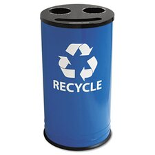 Round Three-Compartment Recycling Container