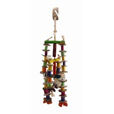 Living World Nature's Treasure Coco Husk Mobile  Hookbill Bird Toy