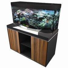 Fluval Vicenza Model 260 Limited Edition - Complete 69 Gallon Bow Front Aquarium Set in Black/ Silver