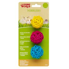 LW Nibblers Willow Ball Small Pet Chew Toy