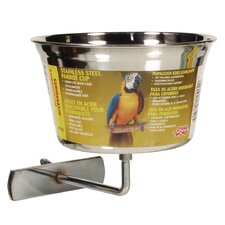 Living World Stainless Steel Parrot Cup