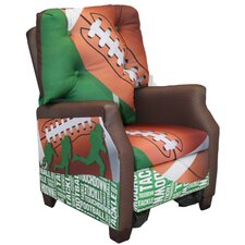 Football 50 yard Line Kid's Recliner Chair