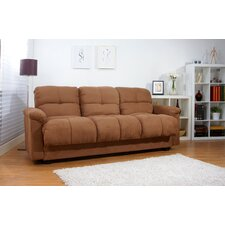Phila Microsuede Storage Sleeper Sofa