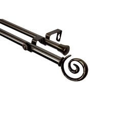 Modern Spiral Double Curtain Rod