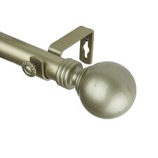 <strong>Rod Desyne</strong> Steel Globe Curtain Rod and Hardware Set