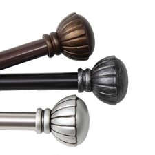 <strong>Rod Desyne</strong> Magnolia Steel Curtain Rod and Hardware Set