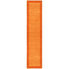 Pulse Orange Border Rug