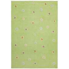 Carousel Green Dots Kids Rug