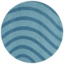 <strong>St. Croix</strong> Transitions Light Blue/Blue Waves Rug
