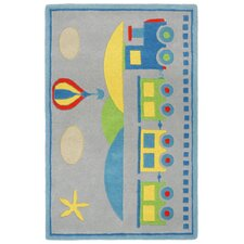 Playful Choo-Choo Kids Rug