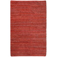 <strong>St. Croix</strong> Matador Leather Chindi Red Rug