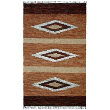 <strong>St. Croix</strong> Matador Diamonds Leather Chindi Rug
