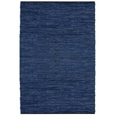 Matador Leather Chindi Blue Rug