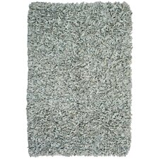 Pelle Leather Grey Rug