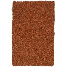 Pelle Leather Copper Rug