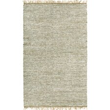 Matador White Leather/Natural Hemp Rug
