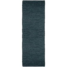 Matador Black Leather Chindi Rug