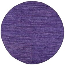Matador Purple Leather Chindi Rug