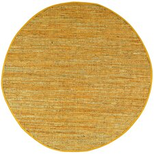 Matador Gold Leather Chindi Rug
