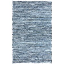 <strong>St. Croix</strong> Matador Leather/Denim Dhurry Rug