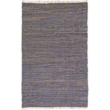 Matador Purple Leather/Hemp Rug