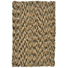 Shagadelic Brown Twist Swirl Rug