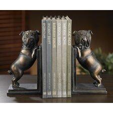 2 Piece Kindwer Whimsical Bulldog Book End Set (Set of 2)