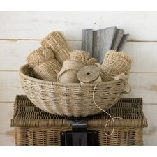 Kindwer Woven Jute Rope Basket with Iron Frame