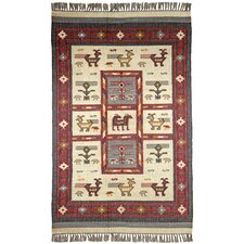 Hacienda Off-White Tribal Rug
