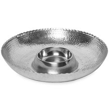 Kindwer Hammered Aluminum Chip and Dip Bowl