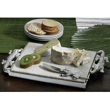 <strong>St. Croix</strong> Kindwer Crocodile Marble Cheese Rectangle Serving Tray and Spreader
