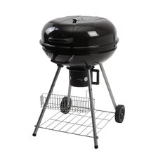 Charcoal Grill with Storage Rack