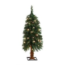 3' Green Alpine Christmas Tree with 35 Clear Lights