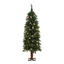 4' Green Alpine Christmas Tree with 70 Clear Lights